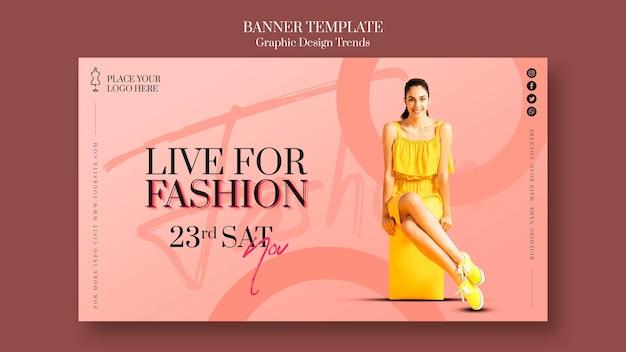 Modello di banner del negozio di moda Psd Gratuite
