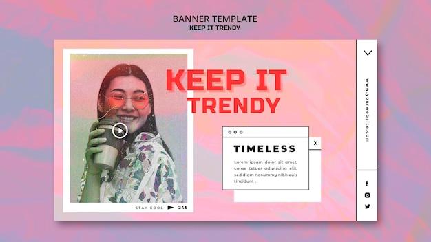 Шаблон баннера модного магазина Бесплатные Psd