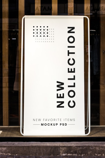 Fashion store billboard mockup Free Psd