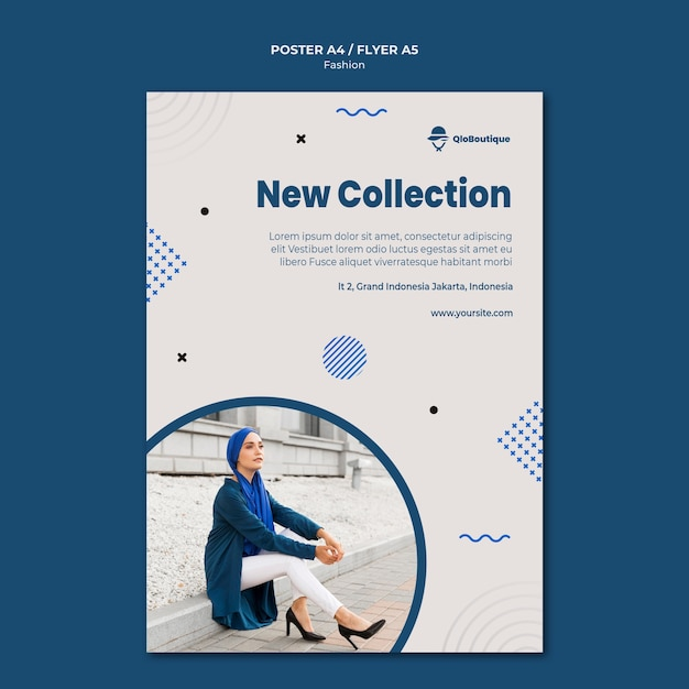 Fashion store flyer template Free Psd