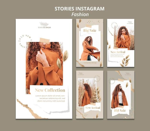 Шаблон истории instagram для модного магазина Premium Psd