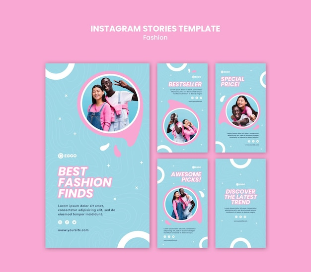 Fashion store instagram stories Free Psd