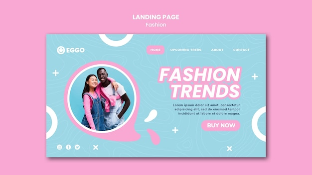 Fashion store landing page template Free Psd