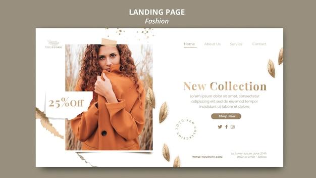 Шаблон целевой страницы модного магазина Premium Psd