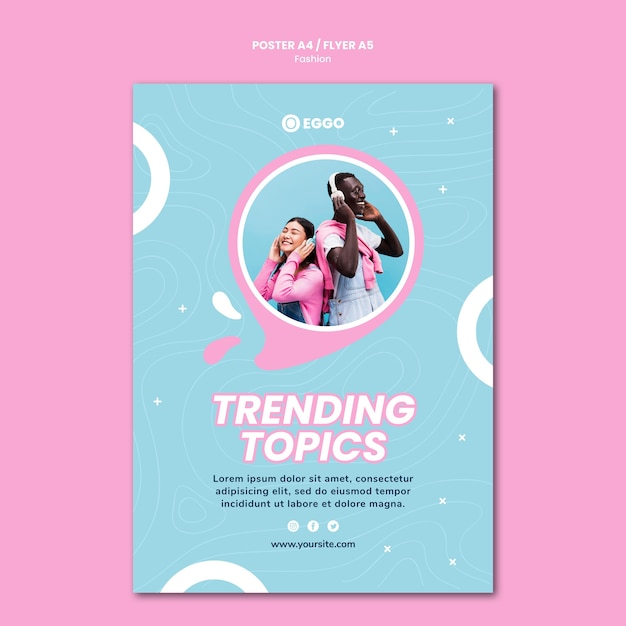 Fashion store poster template Free Psd