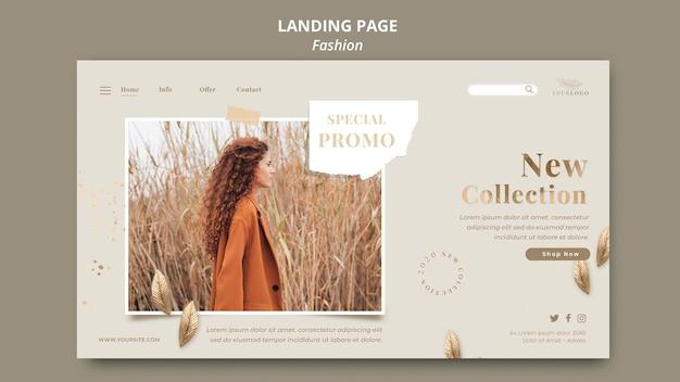 Целевая страница шаблона магазина модной одежды Premium Psd