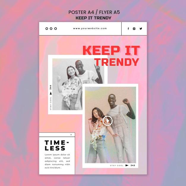 Плакат шаблона магазина модной одежды Бесплатные Psd