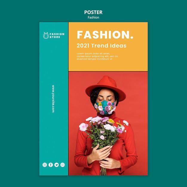 ファッショントレンドポスターテンプレート Premium Psd
