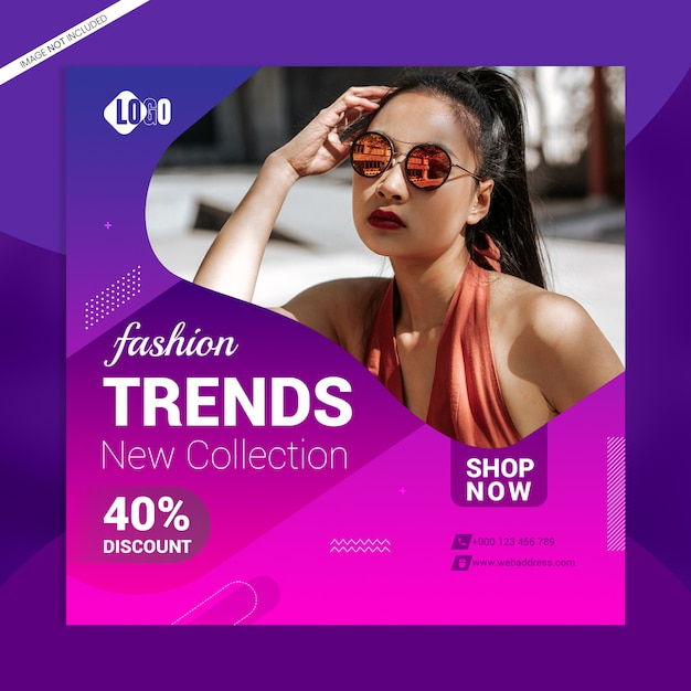 Fashion trends social media banner template Premium Psd