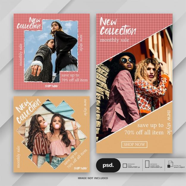 Fashion web banner social media template Premium Psd