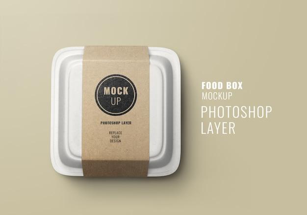 패스트 푸드 배달 상자 모형 프리미엄 PSD 파일