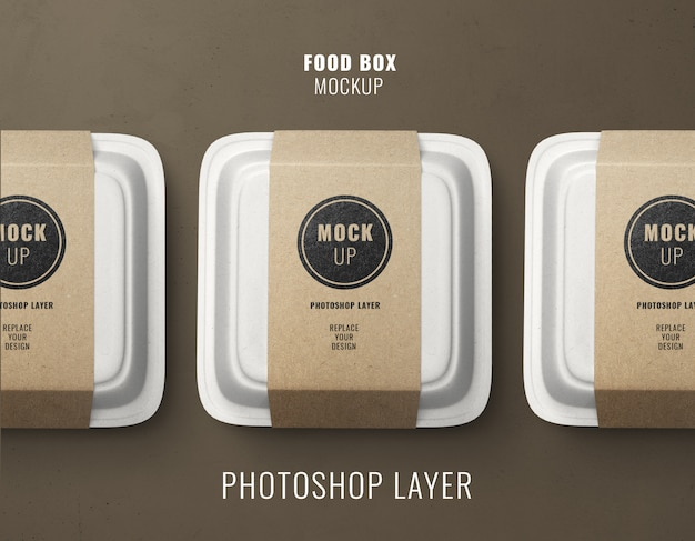 Fast food delivery boxes mockup Premium Psd