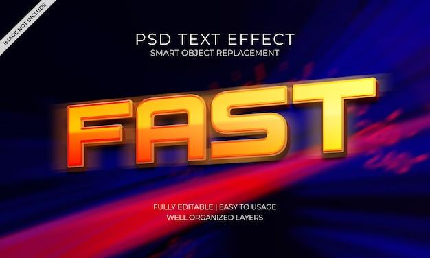Fast text effect Premium Psd