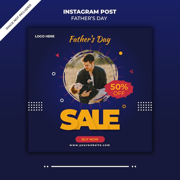 Father's day instagram post banner Premium Psd