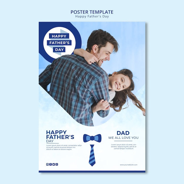 Father's day poster template Free Psd