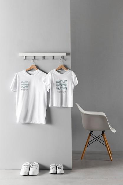 Father's day t-shirt mock-up arrangement