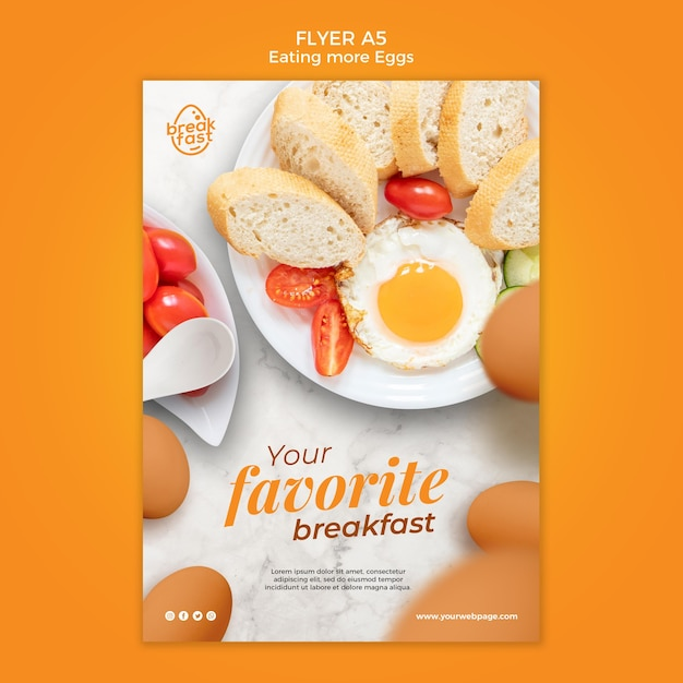 Modello di volantino colazione preferito Psd Gratuite