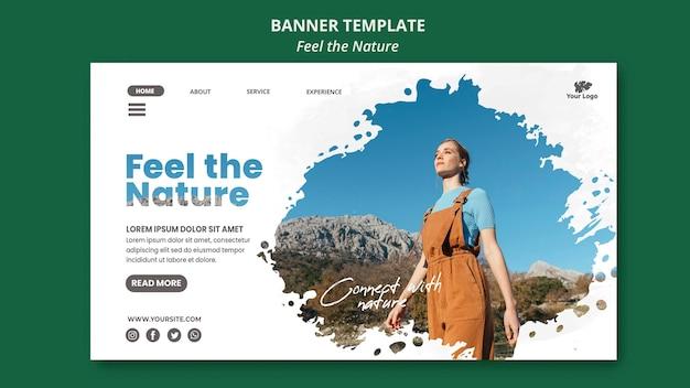 자연 배너 템플릿 느낌 무료 PSD 파일