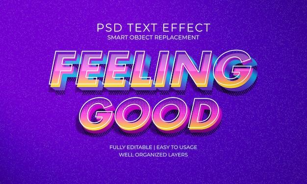 Feeling good text effect Premium Psd