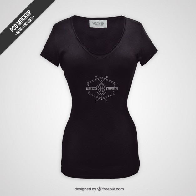 Female T Shirt Mockup Psd File Free Download