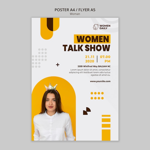 Шаблон плаката конференции феминизма Бесплатные Psd
