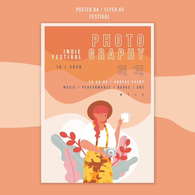 Festival ad poster template Free Psd