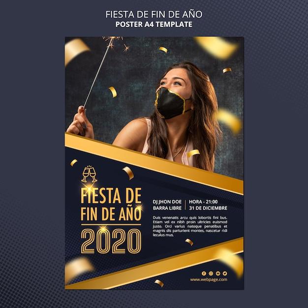 Fiesta de fin de ano celebration poster Free Psd