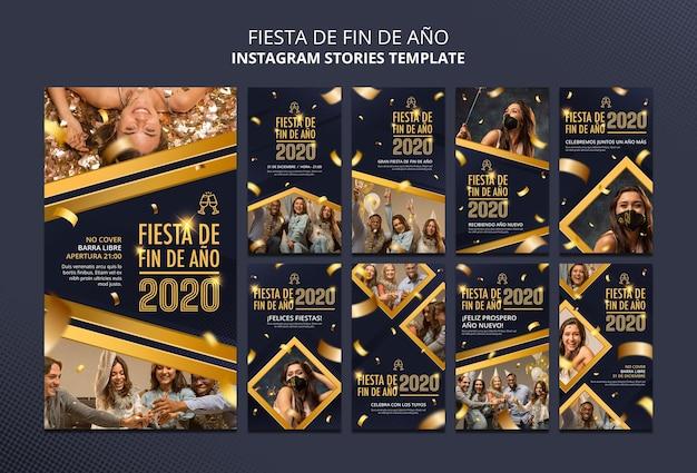 Fiesta de fin de ano instagram stories Premium Psd