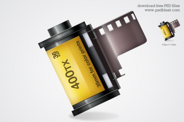 film roll icon   psd Free Psd