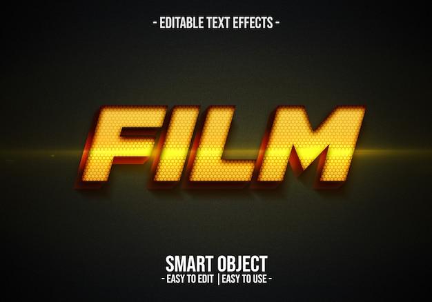 Film text style Premium Psd