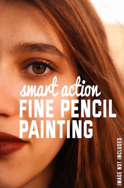 Прекрасный эффект рисования карандашом для ваших фотографий Бесплатные Psd