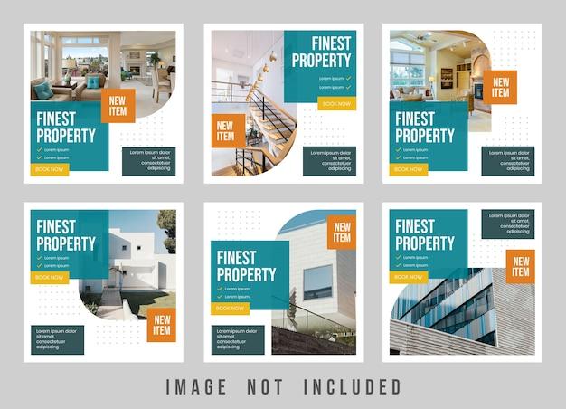 Finest property instagram post template design Premium Psd