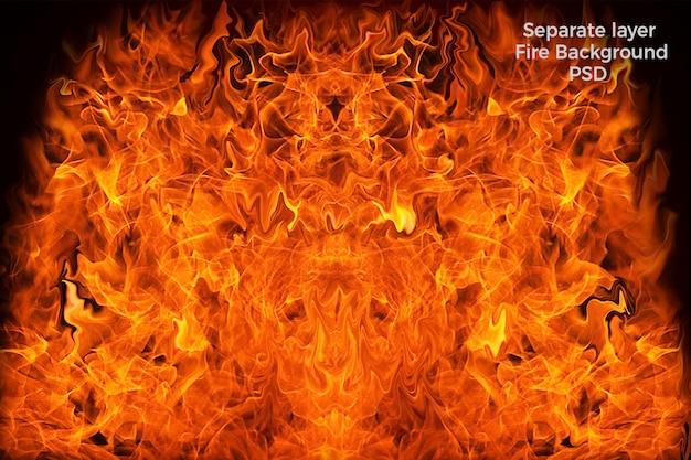 Fire background Premium Psd
