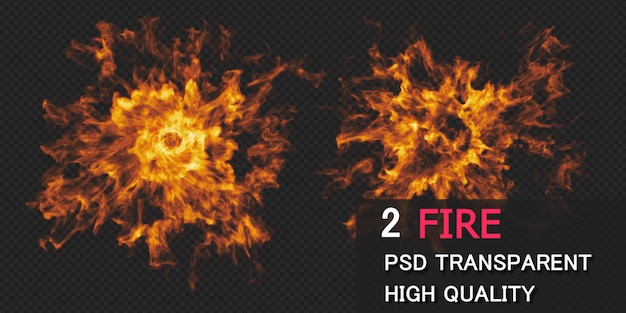 Fire explosion design rendering isolated Premium Psd