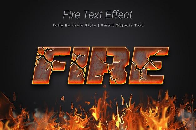 Fire text effect Premium Psd