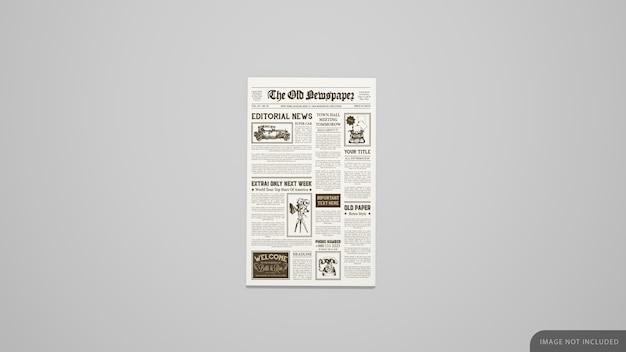 첫 페이지 신문 목업 프리미엄 PSD 파일