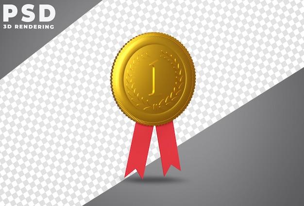 Золотая медаль за первое место Premium Psd