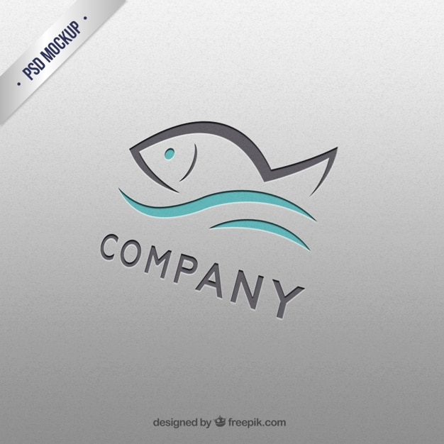 Fish logo template Free Psd