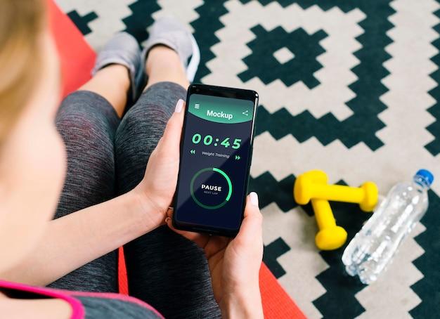 Макет концепции фитнеса дома Premium Psd