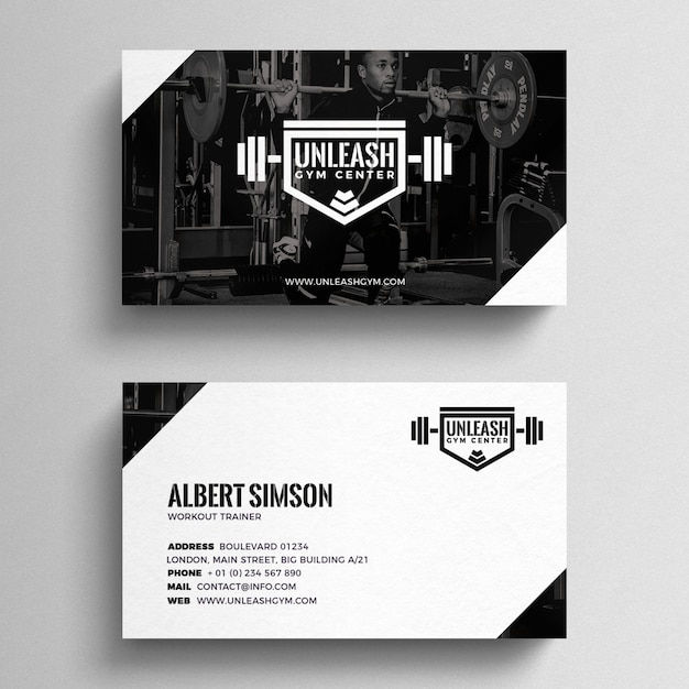 Fitness business card template psd file free download fitness business card template free psd fbccfo Images