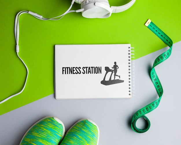 Fitness class equipment with mock-up Free Psd