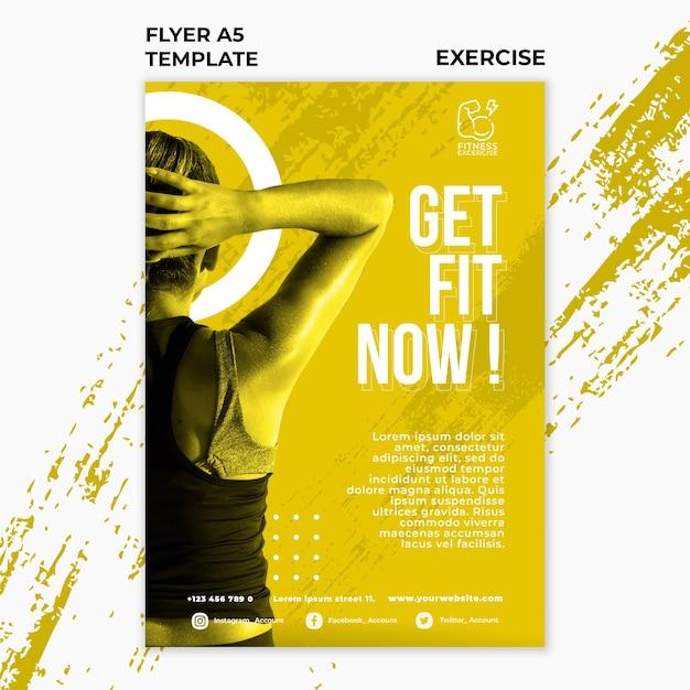 Шаблон флаера для фитнеса Бесплатные Psd