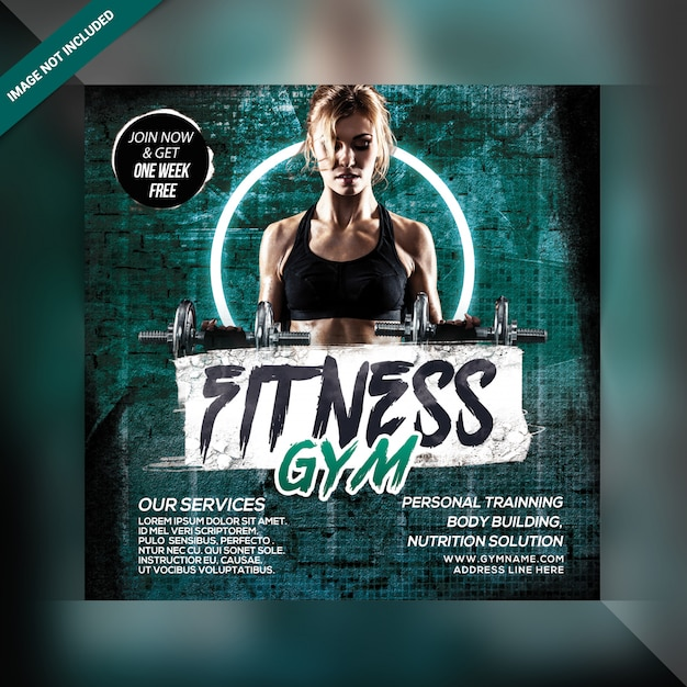 Fitness gym banner template Premium Psd