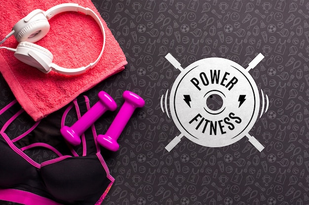 Attrezzature base per fitness lifestyle Psd Gratuite