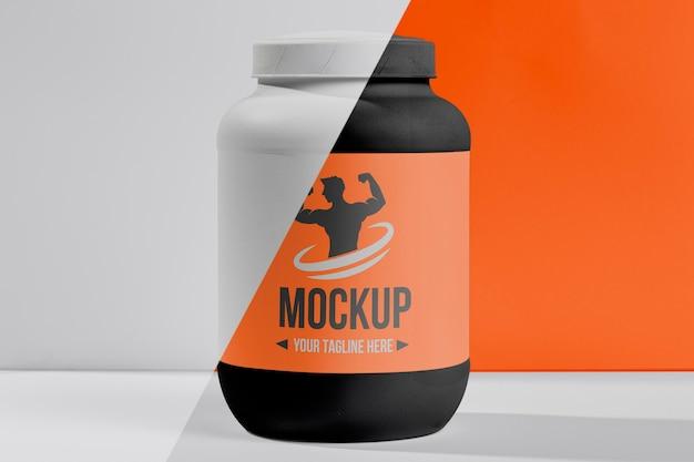 Bottiglia di plastica mock-up fitness di proteine Psd Gratuite