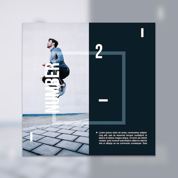 Fitness mockup with image Free Psd