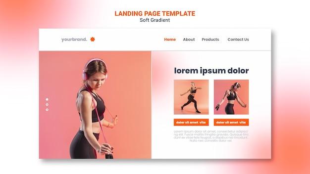 Шаблон целевой страницы фитнеса Premium Psd