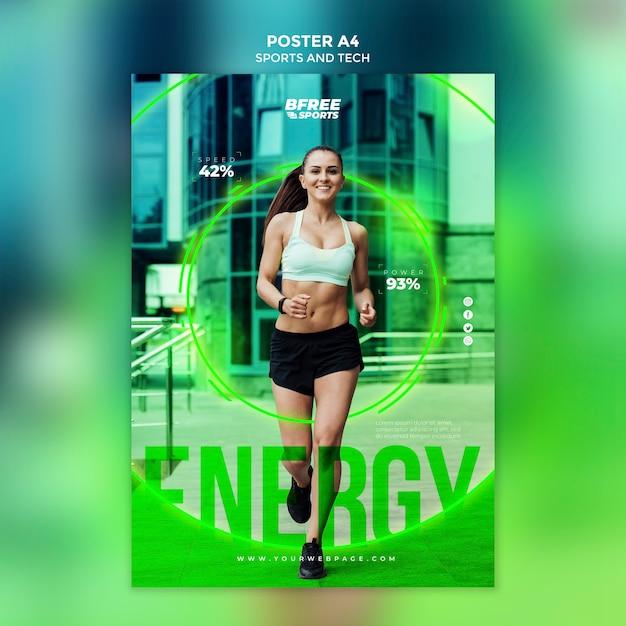 Fitness woman marketing promotion Free Psd
