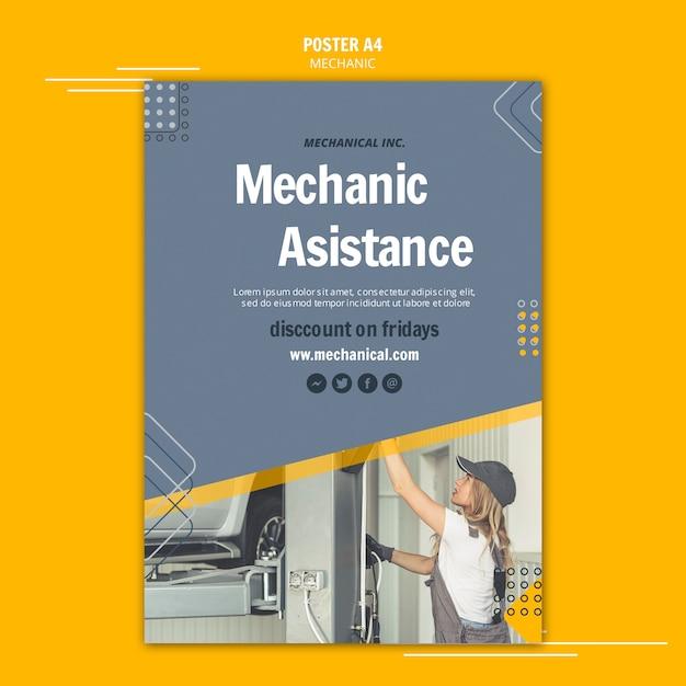 Fix your car mechanic assistance flyer Free Psd