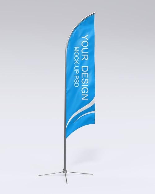 Flag mockup Premium Psd